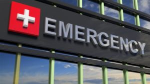 Emergency sign to represent dental emergency in Newington
